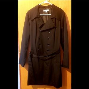 Women's Black Trenchcoat with Belt